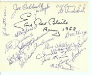 1958 Army Team Signed Autographed Cut Earl Red Blaik 19 Total Autos Jsa Bb25668