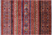 5and039 6 X 8and039 0 Khorjin Super Kazak Hand Knotted Wool Rug - Q5468