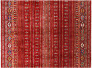 Super Kazak Khorjin Hand-knotted Wool Rug 5and039 10 X 7and039 10 - Q5349