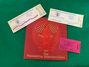 Clinton 1997 Inauguration Gala Program Ticket + Tickets For Swearing In And Parade