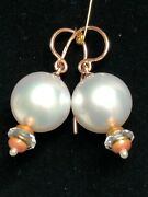 Pair Of Antique Russian Gold Pearls And Enameled Earrings