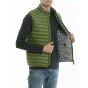 Save The Duck Mens Green Gigax Full Zip Puffer Vest Jacket Sizes M L