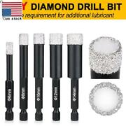 6/8/10/12/14mm Drill Bit Porcelain Glass Ceramic Tile Spade Dry Cut Diamond Usa