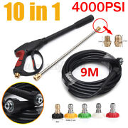Us 4000psi High Pressure Washer Spray Gun Wand Lance Nozzle Tips W/ 29.5ft Hose