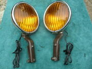 1932-1942 7 Appleton Fog Lights W/ Brackets Chevy