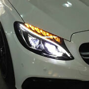 New For Benz C-class W205 Led Headlights Projector All Led Drl Dynamic 15-18