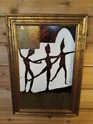 Gregory Fink Oil And Gold Leaf Painting On Board Signed No.2 First Steps I