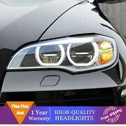 For Bmw X6 E71 2008-2015 Headlights Double Lens Beam Projector Full Led Drl