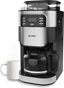 Barsetto Grind And Brew 10 Cup Coffee Maker Cm1025-et Auto Shut-off Free Shipping