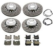 Front And Rear Brake Rotors Pads And Sensors Kit For Bmw F87 M2 F80 M3 F82 F83 M4