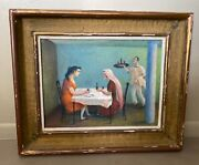Xavier Barile Listed Italian American Artist After Lunch Gossip Fortune Teller