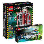 Lego 75827 Ghostbusters Firehouse + 21108 Ecto-1 Brand New Sealedmisb --dhl--