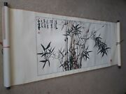 Chinese Antique Horizontal Scroll. Watercolor And Ink. 20th Century. Good Condit