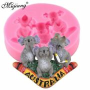 Diy Koala Silicone Mold Resin Australian Bear Chocolate Candy Clay Fondant Cake