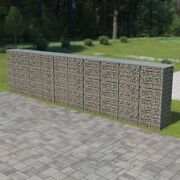 Gabion Wall With Covers Galvanized Steel 236x19.7x59