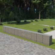 Gabion Wall With Covers Galvanized Steel 354x19.7x39.4