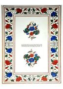 3'x2' White Marble Dining Lapis Marquetry Inlay Outdoor Dinning Table Arts H3087