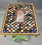 4and039x3and039 Marblr Amazing Dining Table Top Mosaic Inlay Work Kitchen Decor E621a1