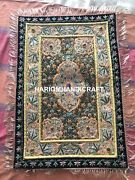 Golden Wires Ethnic Large Wall Hanging With Gold Zardozi Kashmir Tapestry M107