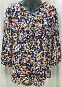 Not Your Daughters Jeans Nydj Top Small S Tunic Blouse Round Neck Women 5783