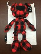 American Eagle X Disney Limited Edition Mickey Mouse Red And Black Plush And Bag