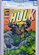 Wizard Ace Edition Incredible Hulk 181 Cgc 10.0 Gem Mint Acetate Cover