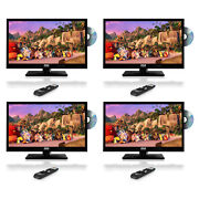 Pyle 23.6 Inch Widescreen 1080p Led Hd Tv Television W/ Cd/dvd Player 4 Pack