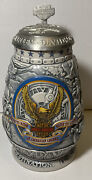 """Large 9"""" Tall Harley-davidson 2000 Collector Beer Stein W/ Serial Number And Lid"""