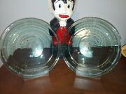 2 Aa+ Anchor Hocking 9 Green Glass Pie Plates Vintage Pan Dishes23cm .75qt .74l