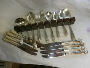 1847 Rogers Daffodil 1950 Silverplated Dinner Size Service For 8 55 Pieces Nice