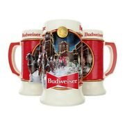 2020 Budweiser Holiday Christmas Stein Brewery Lights New In Box Bud