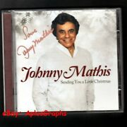 Johnny Mathis... Sending You A Little Christmas Cd - Signed