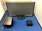 Bose Sounddock Portable Speaker W Remote And Logitech Bluetooth Audio Adapter