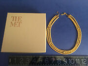 New W/box Mma Old Stock Ancient Egyptian Women's Necklace 24k Cov.metal/enamel