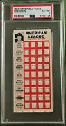 1967 Topps Punch-outs Dick Green Psa 6 Kansas City Aand039s Test Issue