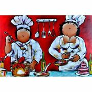 Fat Chef Diamond Painting Cute Embroidery Full Round Square Drills Design Decors