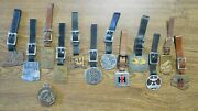 13 Vint Tractor Company And Dealers Watch Fobs Keychains Cat Little Giant Gradall