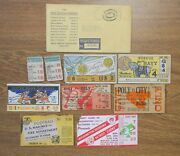 Grouping Vintage 1940s Football Tickets Marines Navy Purdue Notre Dame Redskins