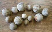 Collection Of 13 Revolutionary War Clay Marbles Small And Large