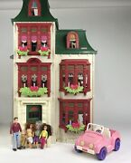 Fisher Price Loving Family Home For The Holidays Victorian Dollhouse And Extras