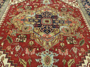 12and039x15and039 New Hand Knotted Antiqued Wool Super Serapi Herizz Oriental Area Rug