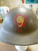 Ww1 Us Aef 43rd Balloon Co Painted Uk Brodie Helmet And Liner 1917 Argonne-meuse