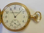 Antique Illinois 14k Yellow Gold Hunting Case Pocket Watch 1587001 Lever Set