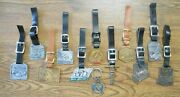 12 Vint Tractor Company And Dealers Watch Fobs Keychains Caterpillar Yale Poclain