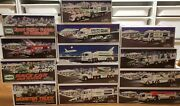 Hess Truck Lot Of 13 No Doubles 1997- 2000, 2002- 2009, 2013 All Trucks Unopened