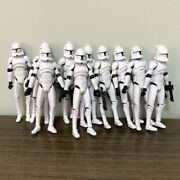 10pcs Star Wars No.5 Clone Trooper W/ Guns 3.75 Action Figures Collection Toys