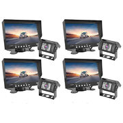 Pyle Plcmtr71 Weatherproof Rearview Backup Camera W/ 7 Monitor System 4 Pack