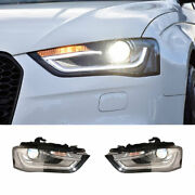 For Audi A4 Led Headlights Projector Hid Led Drl Replace Oem Halogen 2013-2016