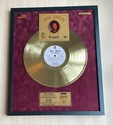 Dr Dre The Chronic 1992 Vinyl Gold Metallized Record Mounted In Frame