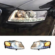 For Audi A6 Led Headlights Projector Hid Led Drl Replace Oem Halogen 2005-2011